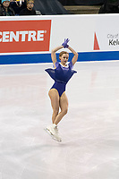 KELOWNA, BC - OCTOBER 26: Russian figure skater Serafima Sakhanovich competes during ladies long program of Skate Canada International held at Prospera Place on October 26, 2019 in Kelowna, Canada. (Photo by Marissa Baecker/Shoot the Breeze)