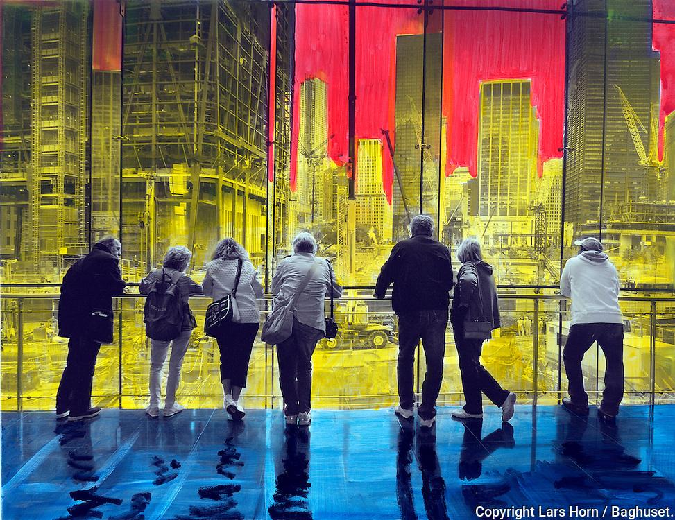 NYC in Colors.  Horn/Andersen<br /> Ground Zero II100x130Kr.   12.500,-<br /> Foto: © Lars Horn / Baghuset<br /> Date : 15.07.13