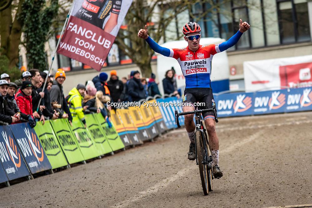 2020-01-05 Cycling: dvv verzekeringen trofee: Brussels: Dutch champion Ryan Kamp is the winner at the Brussels University  Cyclocross
