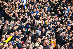 Chelsea fans celebrate Marcos Alonso of Chelsea goal, Chelsea 1-0 Arsenal - Mandatory by-line: Jason Brown/JMP - 04/01/2017 - FOOTBALL - Stamford Bridge - London, England - Chelsea v Arsenal - Premier League