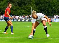 Rugby Union - 2017 Women's Rugby World Cup (WRWC) - Pool B: England vs. Spain<br /> <br /> England's Kay Wilson scores her sides second try, at The UCD Bowl, Dublin.<br /> <br /> COLORSPORT/KEN SUTTON