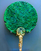 Ancient Ivory and bronze mirror from Pylos (Greece), Mycenaean Civilization, 16th Century BC