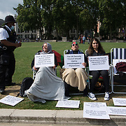 Three Afghan women went on hunger strike to tell the British government to stop supporting terrorist