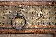 Door knocker at El Bahia Palace, Marrakesh, Morocco