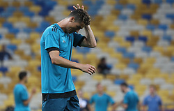 May 25, 2018 - Kiev, Ukraine - Real Madrid's Cristiano Ronaldo works out with teammates during a training session at the Olympic Stadium in Kiev. Ukraine, Friday, May 25, 2018 Tomorrow will be the final match of the Champions League between Real Madrid and Liverpool at the Olympic Stadium in Kiev. (Credit Image: © Danil Shamkin/NurPhoto via ZUMA Press)