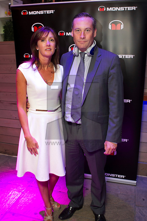 Repro Free: 24/07/2013 Jonathan Moore Managing Director … with wife Nicola pictured at the launch event for Monster DNA Headphones in Ireland, which took place on Wednesday, 25th July 2013 Everleigh Gardens, Dublin 2. Monster DNAs are not only bang on trend, but the sleek design also redefines sound quality for music lovers and entertainment enthusiasts alike. Picture Andres Poveda