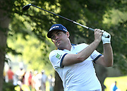 ST. LOUIS, MO - AUGUST 09: Keegan Bradley hits his tee shot on the #11 hole during the first round of the PGA Championship on August 09, 2018, at Bellerive Country Club, St. Louis, MO.  (Photo by Keith Gillett/Icon Sportswire)