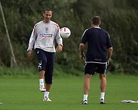 Photo: Paul Thomas.<br /> England Training Session. 01/09/2006.<br /> <br /> Rio Ferdinand.