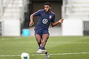 USA Mens National Team defender Mark Mackenzie kicks the ball in an inner squad scrimmage during training camp, Friday, Jan. 10, 2020, in Bradenton, Fla. (Kim Hukari/Image of Sport)