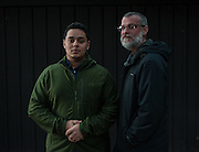 COLUMBIA, MD -- 12/20/14 -- Mark Johnson-Lewis, 48, and his son, Tyler Lewis, 22, talk about the complexity of being a biracial family..…by André Chung #_AC23115