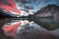 Sunrise, Bow Lake, Banff National Park