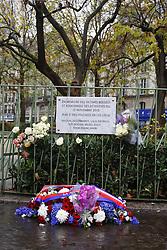 November 13, 2016 - Paris - Plaque en memoire de l attentat au bar La bonne biere et du restaurant Casa Nostra (Credit Image: © Panoramic via ZUMA Press)