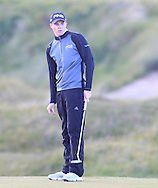 Stuart Grehan (Tullamore) on the 15th green during Round 2 of the East of Ireland Amateur Open Championship at Co. Louth Golf Club, Baltray on Sunday 30th May 2015.<br /> Picture:  Thos Caffrey / www.golffile.ie
