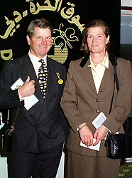 MR IAN & LADY EMMA BALDING he is a trainer to The Queen, at a race meeting in Berkshire on 19th September 1999.MWM 5