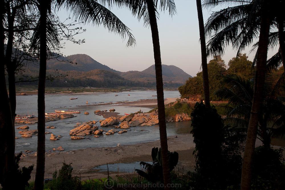 Confluence of Nam Khan and Mekong Rivers, Luang Prabang, Laos.