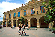 SPAIN, ANDALUSIA RONDA: beautiful 'pueblo blanco' and resort south of Seville; the facade of the National Parador de Ronda