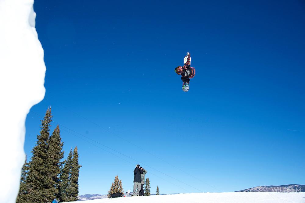 Jamie Anderson during Women's Snowboard Slopestyle Finals at 2014 X Games Aspen at Buttermilk Mountain in Aspen, CO. ©Brett Wilhelm/ESPN