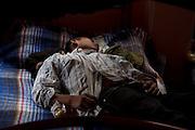 "A migrant sleeps one afternoon in the shelter ""Sa Juan Diego Cuauhtlatoatzin"" in Lechería, Estado de México in this photo, taken on February 2011. (Photo: Prometeo Lucero)"