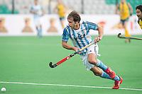 NEW DELHI - Argentijnse Facundo Callioni   tijdens de  poulewedstrijd in de finaleronde van de Hockey World League tussen de mannen van Argentinie en Belgie. Foto  KOEN SUYK