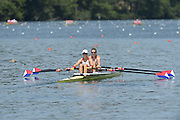 Lucerne. Switzerland,  USA2 Adrienne MARTELLI (b) , Megan KALMOE (s)  Rotsee Lake.  15:26:44  Saturday  13/07/2013  [Mandatory Credit, Peter Spurrier/ Intersport Images]