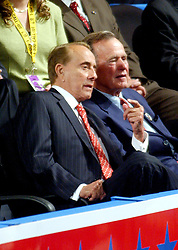 New York, NY - August 31, 2004 --  Former United States Senator Bob Dole (Republican of Kansas) and former United States President George H.W. Bush listen to the remarks of United States Senator Elizabeth Dole (Republican of North Carolina) at the 2004 Republican Convention in Madison Square Garden in New York on Monday, August 30, 2004..Credit: Ron Sachs / CNP.(RESTRICTION: No New York Metro or other Newspapers within a 75 mile radius of New York City)