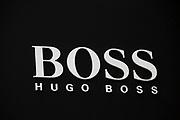 Sign for clothes shop Hugo Boss.