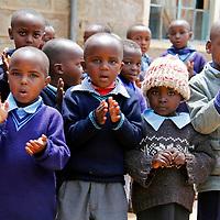 Africa, Kenya, Nanyuki. School children of the Nanyuki Children's Home.