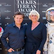 NLD/Amsterdam/20190606 - Talkies Terras Award 2019, kapper Hikmet en Laura van der Graaf van haarmerk Schwarzkopf