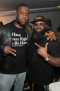 NEW YORK, NEW YORK- FEBRUARY 4: (L-R) Recording Artists Robert Glasper and Black Thought aka Tariq Trotter backstage before THE ROOTS perform the last show at the current Highline Ballroom on February 4, 2019 in New York City.  (Photo by Terrence Jennings/terrencejennings.com)
