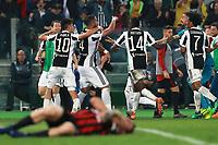 Esultanza dopo il gol di Medhi Benatia Juventus goal celebration<br /> Roma 09-05-2018  Stadio Olimpico  <br /> Football Calcio Finale Coppa Italia / Italy's Cup Final 2017/2018 <br /> Juventus - Milan<br /> Foto Cesare Purini / Insidefoto