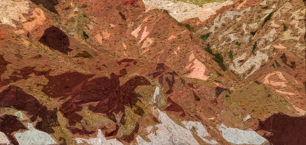 Sea of Cortez shoreline cliffs, Baja, Mexico