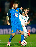 CF Fuenlabrada's Dioni (l) and Real Madrid's Nacho Fernandez during Spanish Kings Cup 1/16 Final 1st leg match. October 26,2017. (ALTERPHOTOS/Acero)