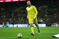 Goalkeeper Pepe Reina of Spain in action. England v Spain, Football international friendly at Wembley Stadium in London on Tuesday 15th November 2016.<br /> pic by John Patrick Fletcher, Andrew Orchard sports photography.
