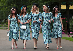 The Tootsie Rollers pose for photographers during day two of Royal Ascot at Ascot Racecourse.
