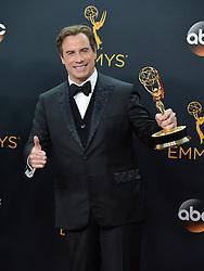 John Travolta  im Press Room bei der Verleihung der 68. Primetime Emmy Awards in Los Angeles / 180916<br /> <br /> *** 68th Primetime Emmy Awards in Los Angeles, California on September 18th, 2016***