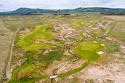 Dumbarnie, Scotland, UK. 19 May 2020. Aerial view of new Dumbarnie Links golf course on Firth of Forth in Fife. The new golf course was scheduled to open on May 16 but this date was cancelled due to the Covid-19 lockdown which halted construction work on the course. New provisional date for official opening is 29 May. Iain Masterton/Alamy Live News