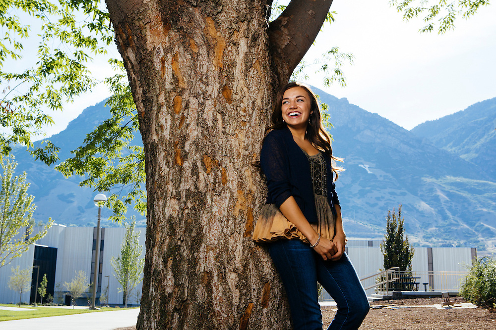 26 July 2014- Ashton Taylor is photographed on the campus of BYU for Omaha Magazine.