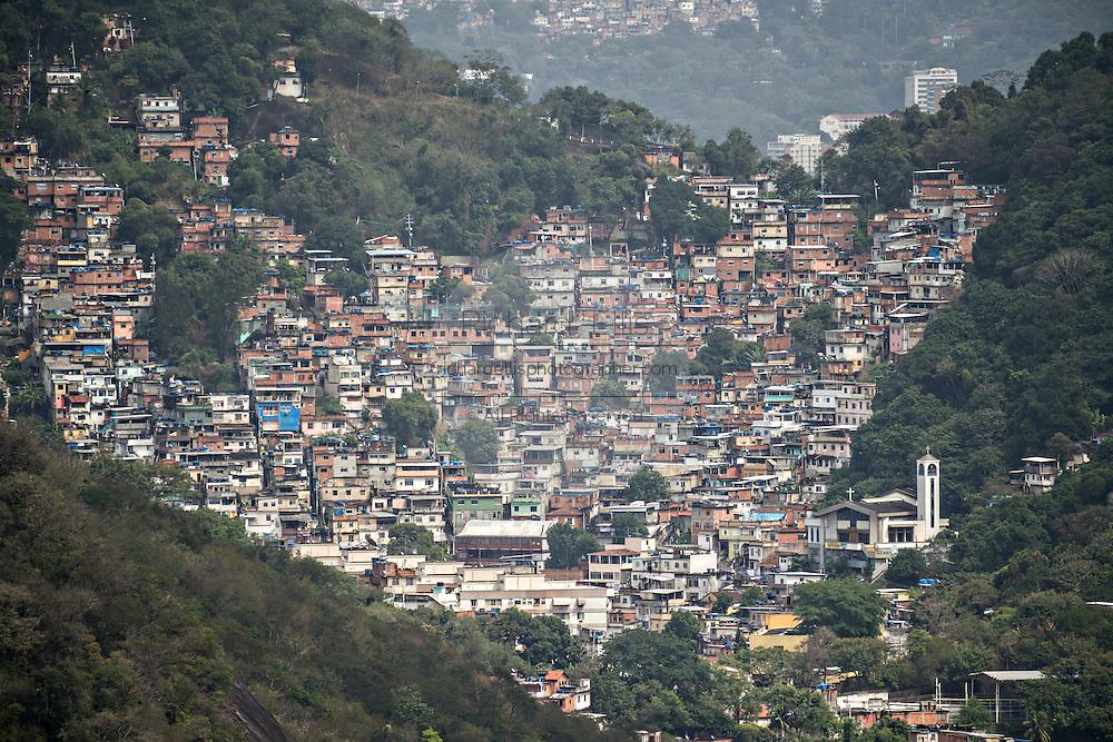 View of the Favela Santa Marta in Rio de Janeiro, Brazil.