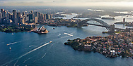 A aerial view of the Sydney Harbor.