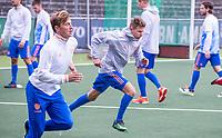 AMSTELVEEN  - Jorrit Croon en Jelle Galema,  training Nederlands hockeyteam mannen voor de Pro League wedstrijden tegen Groot Brittannie   COPYRIGHT KOEN SUYK
