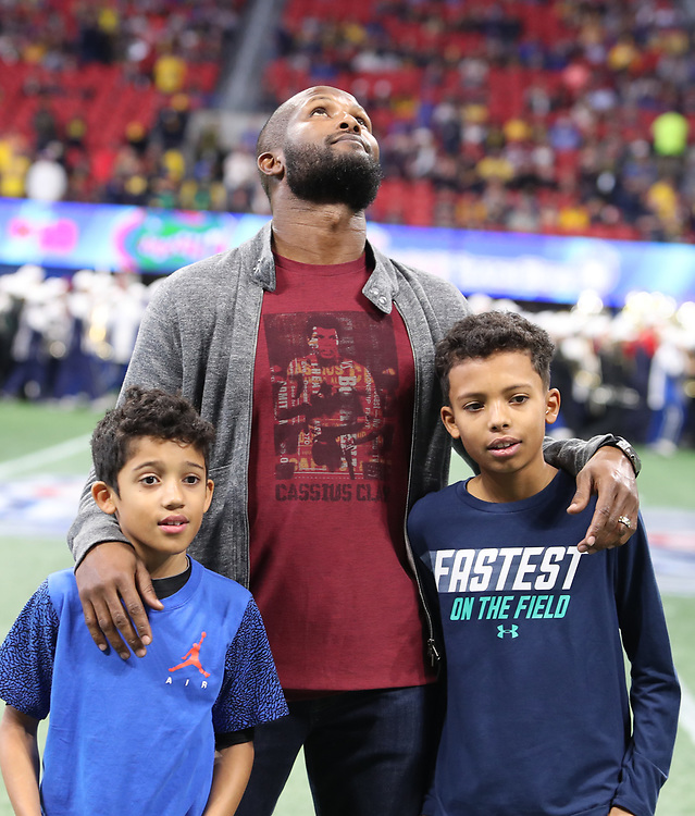 A special guest prior to the Chick-fil-A Bowl Game at  the Mercedes-Benz Stadium, Saturday, December 29, 2018, in Atlanta. ( AJ Reynolds via Abell Images for Chick-fil-A Kickoff)