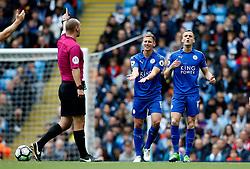 Marc Albrighton of Leicester City reacts in frustration - Mandatory by-line: Matt McNulty/JMP - 13/05/2017 - FOOTBALL - Etihad Stadium - Manchester, England - Manchester City v Leicester City - Premier League