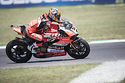 July 7, 2018 - Misano, Italy, Italy - 7 Chaz Davies GBR Ducati Panigale R Aruba.it Racing - Ducati during the Motul FIM Superbike Championship - Italian Round Superpole race during the World Superbikes - Circuit PIRELLI Riviera di Rimini Round, 6 - 8 July 2018 on Misano, Italy. (Credit Image: © Fabio Averna/NurPhoto via ZUMA Press)