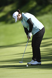 EVIAN-LES-BAINS, Sept. 16, 2017  Feng Shanshan of China plays a shot during the first round of the Evian Championship on Sept. 15, 2017 in Evian-les-Bains, France. (Credit Image: © Alain Grosclaude/Xinhua via ZUMA Wire)