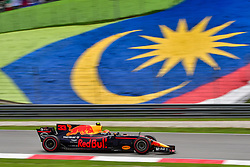 SEPANG, Oct. 1, 2017  Red Bull driver Max Verstappen of the Netherlands drives at the Formula One Malaysia Grand Prix at the Sepang Circuit in Malaysia, on Oct. 1, 2017. Max Verstappen claimed the title of the event. (Credit Image: © Chong Voon Chung/Xinhua via ZUMA Wire)