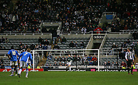 Photo: Andrew Unwin.<br /> Newcastle United v Birmingham City. The FA Cup. 17/01/2007.<br /> Newcastle fans head for the exit after their team concede a fourth goal.