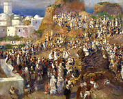 The Mosque' (Arab Holiday) 1881:  Pierre August Renoir (1841-1919) French painter . Oil on canvas.