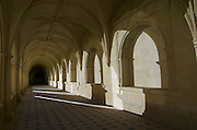 In one of the cloisters. Abbaye Royale de Fontevraud abbey, Loire, France