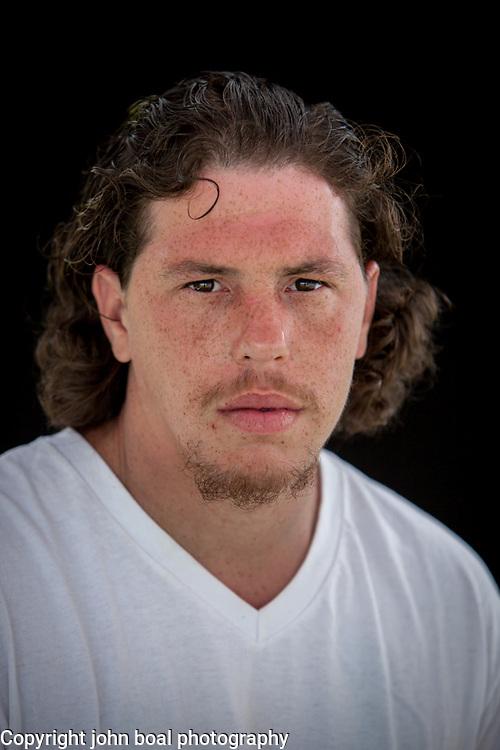 Jerrod Phillip Smith, Monacan.  Portraits at the Monacan Powwow.  Elon, VA.  Saturday, May 16, 2015.  John Boal Photography