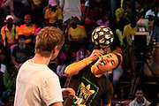 Freestyle soccer players from around the world gathered in Cape Town for the 201 Red Bull Street Style soccer competition. Image by Greg Beadle